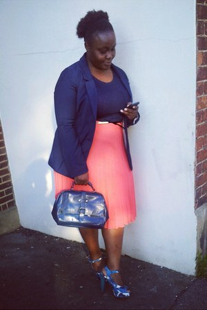 pleated Primark skirt - blazer H&M blazer - top Primark top