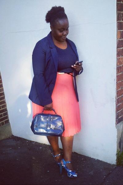 pleated Primark skirt - blazer H&M blazer - top Primark top