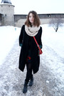 Patrizia-pepe-boots-osklen-dress-jnby-coat-h-m-scarf-fossil-bag