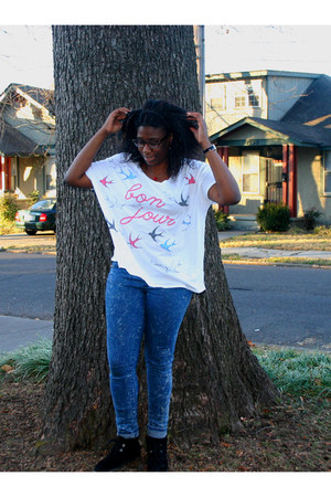 Nine West boots - Cheap Monday jeans - Urban Outfitters shirt