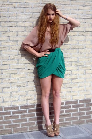 Josh V blouse - H&M skirt