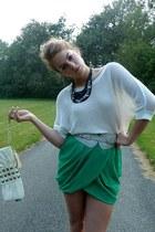 tulip H&M skirt - Express sweater - River Island bag