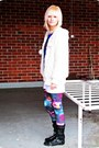 White-fluffy-hoodie-random-hoodie-purple-galaxy-romwe-leggings
