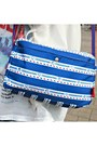 White-chiffon-sheinside-jacket-navy-from-japan-tamagotchi-bag