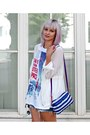 White-chiffon-sheinside-jacket-navy-from-japan-tamagotchi-bag
