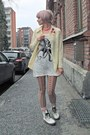 White-combat-boots-random-brand-boots-white-octopus-print-random-brand-dress