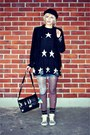 Black-h-m-hat-black-dresslily-sweater-black-velvet-vintage-blazer