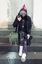 black PLAY hoodie - black printed H&M tights