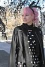 Black-h-m-dress-black-thrifted-coat-amethyst-random-tights