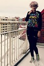 Black-make-way-jeans-black-space-print-sheinside-sweater