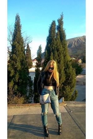 pull&bear jeans - Zara jacket - Aldo sunglasses