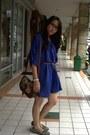 Blue-dress-tawny-jcpenney-bag-heather-gray-just-kulkith-flats