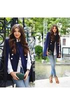 Sheinside cape - asos shirt - Choies sandals