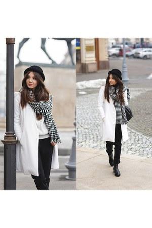 OASAP hat - Sheinside coat - kurtmannro sweater - OASAP scarf