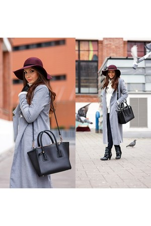 Sheinside coat - Jessica Buurman boots - PERSUNMALL hat