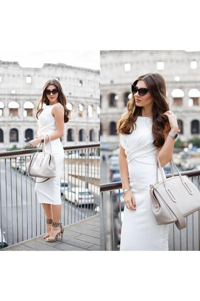 White-shein-dress