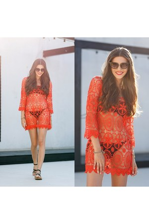 shein dress - Boohoo sunglasses