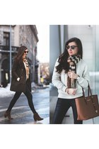 Sheinside coat - kurtmannro sweater - Sheinside scarf - Michael bag
