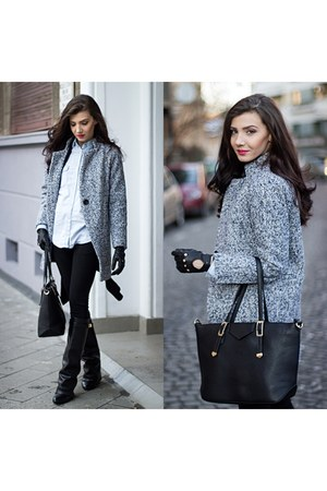 tweed grey Sheinsidecom coat