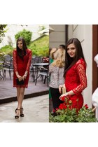 red lace Hush Hush dress