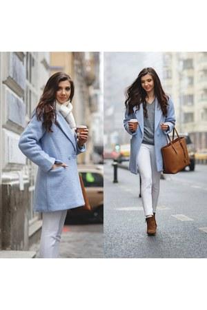 Sheinside coat - asos sweater - Michael Kors bag - Sheinside pants