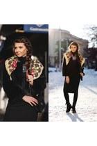 Diva Charms boots - Diva Charms dress - faux fur Sheinside jacket
