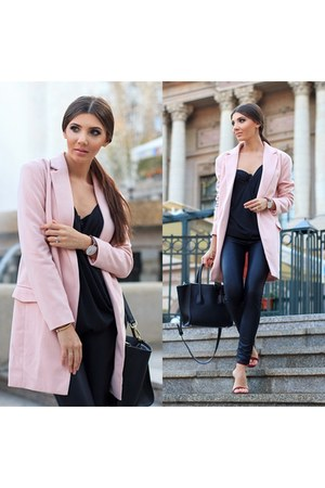 Sheinside coat - Sheinside leggings - Missguided sandals