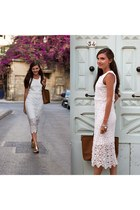 white lace Sheinsidecom dress
