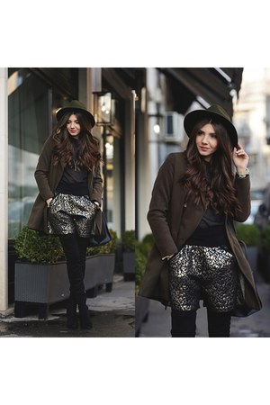 Jessica Buurman boots - Sheinside coat - asos hat - Missguided sweater