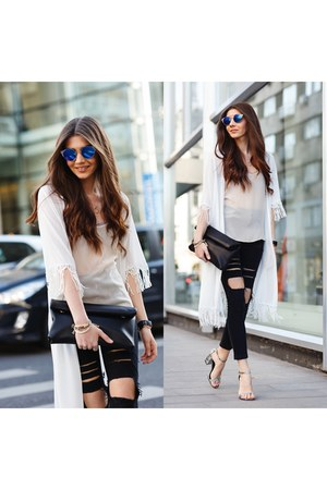 Sheinside jeans - romwe jacket - Chi Chi London bag - Lulus sunglasses