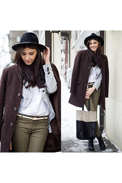 wool brown Zara coat