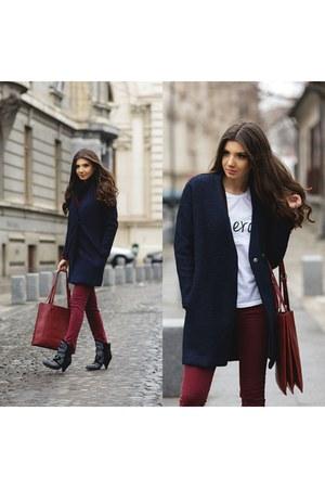 Jessica Buurman boots - Sheinside coat - kurtmannro pants