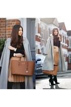 Sheinside coat - Michael Kors bag - Front Row Shop skirt