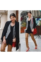 Sammy dress vest - Sheinside coat - Sheinside sweater - Sheinside pants