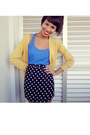 Black-skirt-skirt-yellow-long-cardigan-cardigan-blue-blouse-blouse