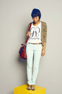 Ivory-basic-mango-shirt-aquamarine-jeans-hering-pants