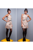 camel animal print shop 126 dress - fashion shop 126 boots