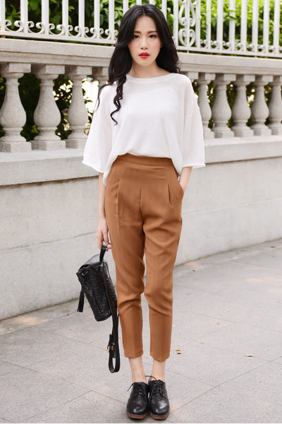 bronze high waisted Larmoni pants
