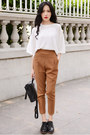 Bronze-high-waisted-larmoni-pants