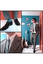silver fit Aldo Conti suit