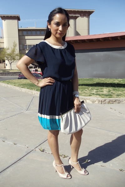 color block Forever 21 dress - clutch Aldo bag