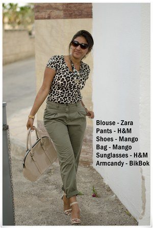 BikBok bracelet - Mango shoes - Mango bag - H&M sunglasses - H&M pants