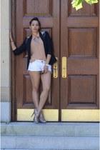 Zara blazer - Macys shorts - Forever 21 blouse