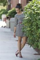 H&M dress - ruby red Bakers heels