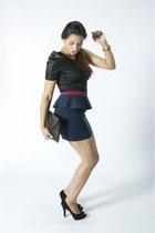 Steve Madden heels - DIY bag - Forever 21 skirt