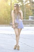 light blue SayWhat dress - DIY bag - H&M sunglasses