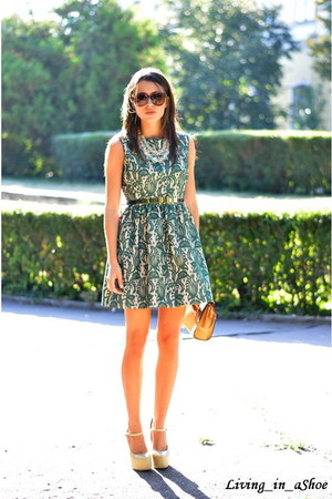 OASAP bag - Zara dress - H&M sunglasses - Sheinside pumps - H&M necklace