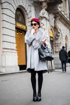 heather gray coat