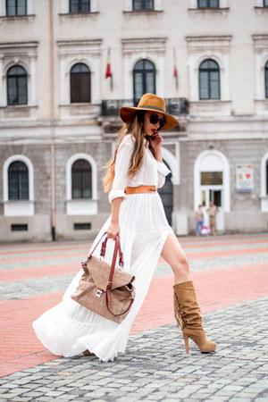 white shein dress