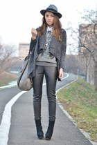 gray nowIStyle cardigan - black OASAP boots